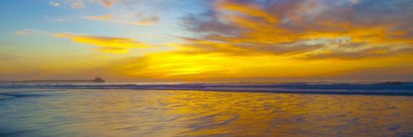 This sunrise was taken in North Myrtle Beach South Carolina