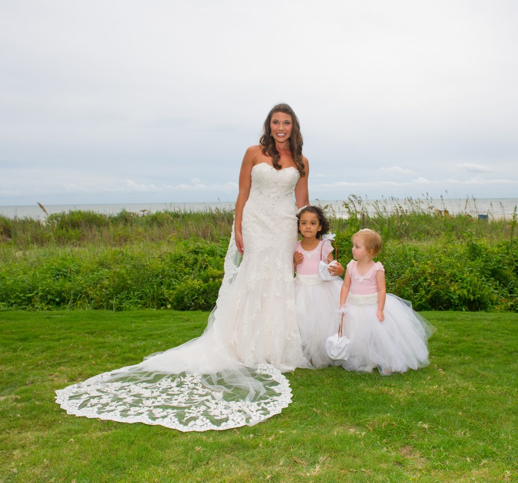 The Bride and Little girls
