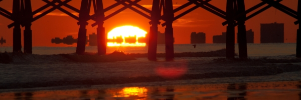 This image was taken with a long lens looking toward Myrtle Beach
